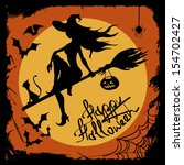 halloween illustration with... | Shutterstock .eps vector #154702427