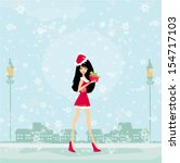beautiful pin up girl in...   Shutterstock .eps vector #154717103