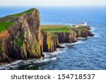 View Of Neist Point Lighthouse...