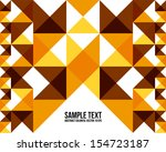 abstract colorful triangle... | Shutterstock .eps vector #154723187