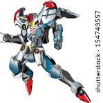 flying metallic robot warrior...