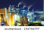 power station at night with... | Shutterstock . vector #154746797
