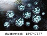 nanoparticles   3d rendered... | Shutterstock . vector #154747877