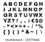 grunge font alphabet   letters  ... | Shutterstock . vector #15475666