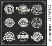 retro styled labels of beer or... | Shutterstock .eps vector #154757573