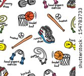 sport equipment background | Shutterstock .eps vector #154783733