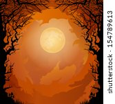 moonlight halloween background | Shutterstock .eps vector #154789613