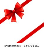 holiday ribbon and bow | Shutterstock .eps vector #154791167
