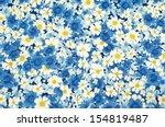 Pattern Flower On Cloth Fabric...