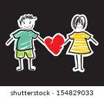 love card template   Shutterstock .eps vector #154829033