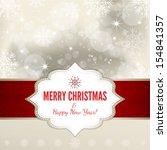 christmas card   illustration | Shutterstock .eps vector #154841357