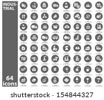 industrial icons gray version... | Shutterstock .eps vector #154844327