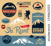 mountain icons set. mountain... | Shutterstock .eps vector #154862033