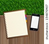 blank spiral notepad notebook... | Shutterstock .eps vector #154870907