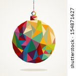 merry christmas trendy circle... | Shutterstock .eps vector #154871627