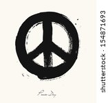 isolated hand drawn peace... | Shutterstock .eps vector #154871693