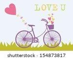 love card design. vector... | Shutterstock .eps vector #154873817