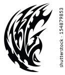 abstract tribal tattoo design ... | Shutterstock .eps vector #154879853