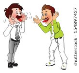 vector illustration of two... | Shutterstock .eps vector #154897427