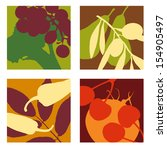 abstract vector fruit and...