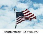 american flag against bright... | Shutterstock . vector #154908497