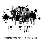 city label over white... | Shutterstock .eps vector #154917287