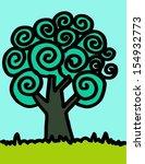 tree art design in jaidee...   Shutterstock .eps vector #154932773