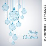 christmas background with... | Shutterstock .eps vector #154933283