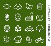 Ecology Symbol Line Icon On...