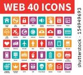 web 40 vector icons set....