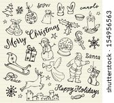 Assorted Christmas Icons Doodl...