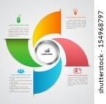 modern box infographics options ... | Shutterstock .eps vector #154968797