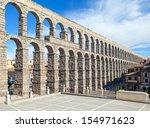 aqueduct in segovia  castilla y ...   Shutterstock . vector #154971623