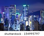 hong kong city | Shutterstock . vector #154995797