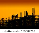 construction worker working on... | Shutterstock . vector #155002793