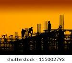 construction worker working on... | Shutterstock . vector #155002793