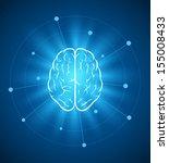 vector brain design template.... | Shutterstock .eps vector #155008433