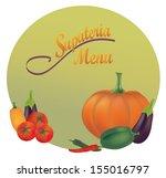 restaurant menu design. vector... | Shutterstock .eps vector #155016797