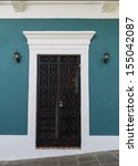 Charming Old Teal Blue Spanish...