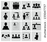 human resources and management... | Shutterstock .eps vector #155047757