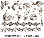 adornment,angle,artwork,background,baroque,beautiful,beauty,border,brown,butterfly,card,collection,corner,curl,deco