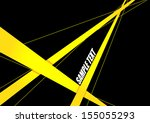 Abstract Yellow Ribbon On Blac...