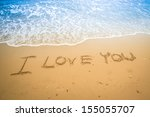 I Love You Written In A Sandy...