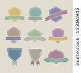vintage retro labels set  ... | Shutterstock .eps vector #155062613