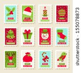 Set Of Postal Stamps With...