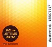 Autumn Sun Triangle Vector...