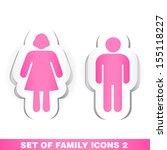 set of family paper icons 2.    Shutterstock .eps vector #155118227