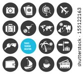vector travel and tourism icons ...
