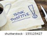 think positive   motivational... | Shutterstock . vector #155125427