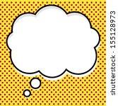 pop art think bubble | Shutterstock .eps vector #155128973